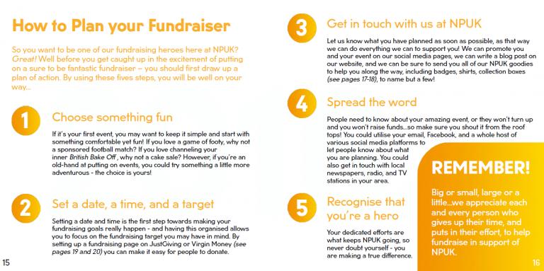 Fundraising, NPUK