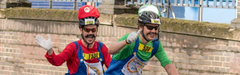 Fundraising for NPUK by taking part in the Prudential Ride London-Surrey which starts in Queen Elizabeth Olympic Park and follows a 100-mile route on closed roads through London and into Surrey's stunning countryside.