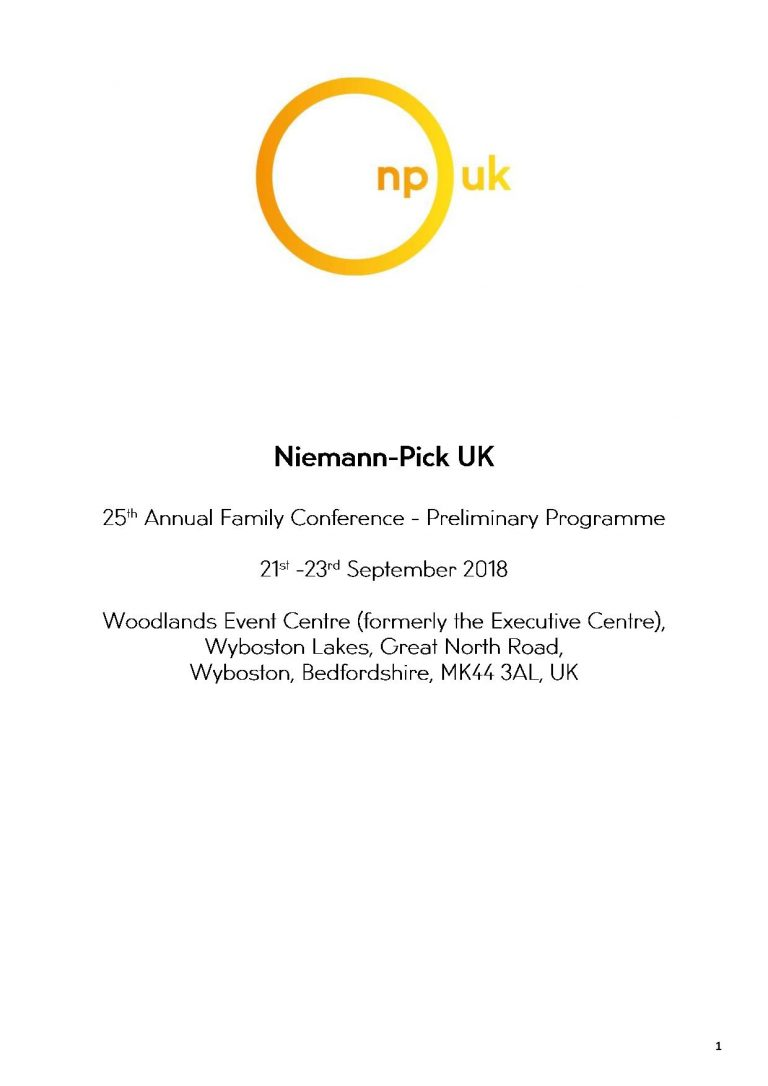 2018 Niemann-Pick Uk Annual Family Conference